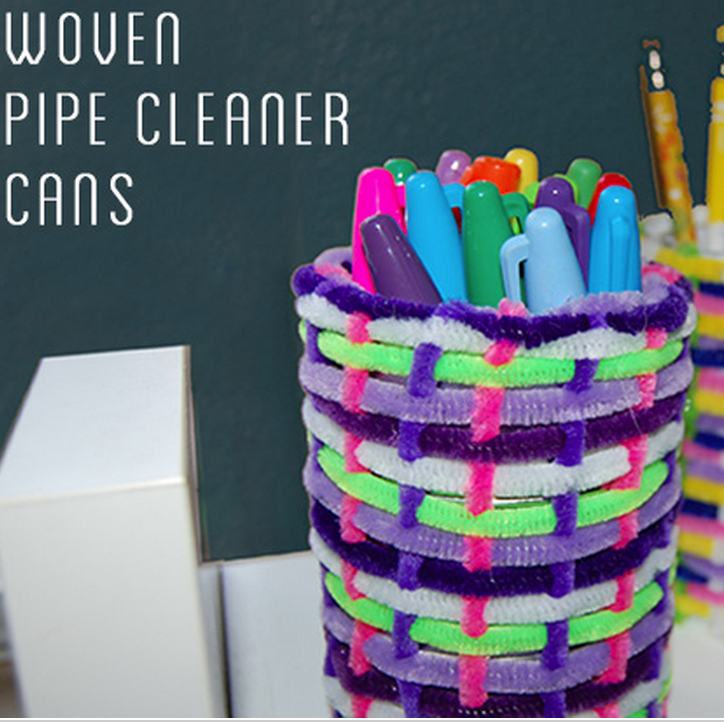 pipe cleaner craft ideas cool pipe cleaner woven baskets 5206