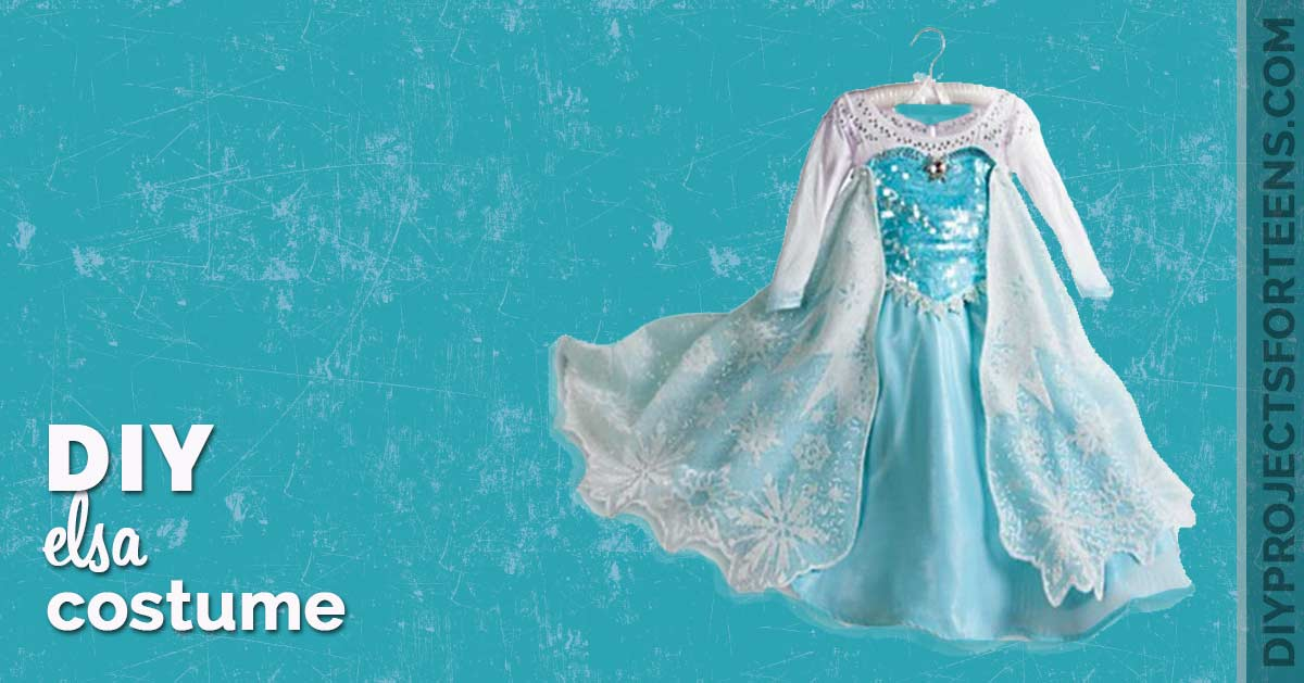 DIY Elsa Dress Costume Tutorial - Step By Step Instructions and Video