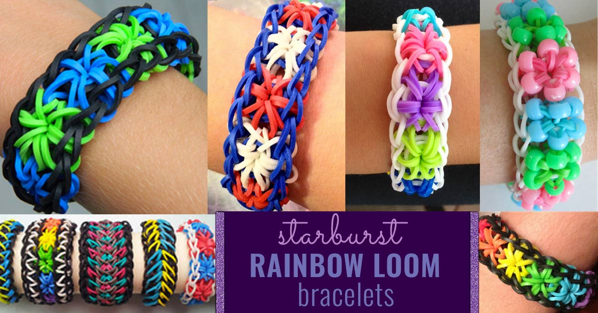 How To Make A Starburst Rainbow Loom Bracelet Diy Projects For Teens
