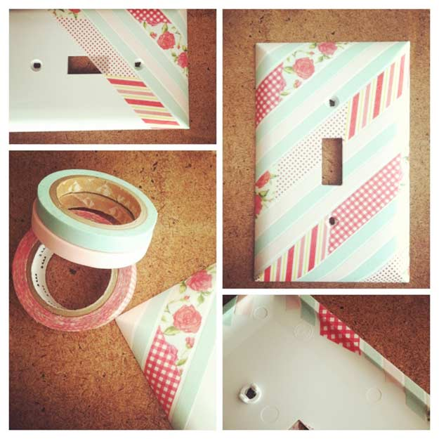 Cute DIY Room Decor Ideas for Teens - DIY Bedroom Projects for Teenagers - Washi Tape : cool-simple-bedroom-ideas - designwebi.com
