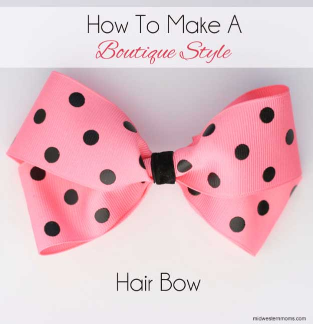 Cool Crafts You Can Make for Less than 5 Dollars | Cheap DIY Projects Ideas for Teens, Tweens, Kids and Adults | Boutique Style Hairbow | http://diyprojectsforteens.com/cheap-diy-ideas-for-teens/