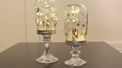 Cute DIY Room Decor Ideas for Teens - DIY Bedroom Projects for Teenagers - Mason Jar String Lights on Pedestals