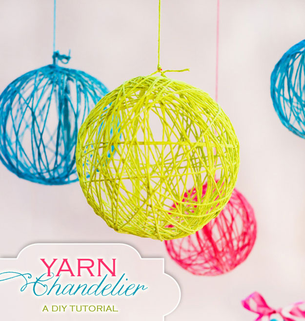 Cute DIY Room Decor Ideas for Teens   DIY Bedroom Projects for Teenagers  Yarn Chandelier