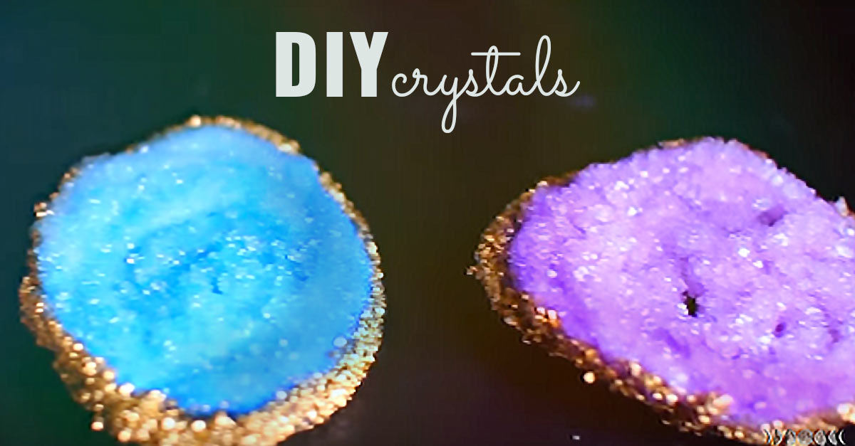 Tumblr Inspired DIY Crystal Geodes - DIY Projects for Teens