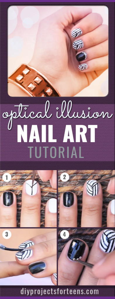 DIY Optical Illusion Nail art Tutorial - Fun Nail Art