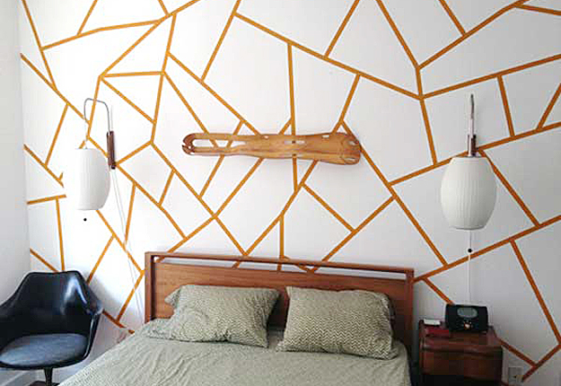 decor with only painters tape and paint talk about a cool diy decor