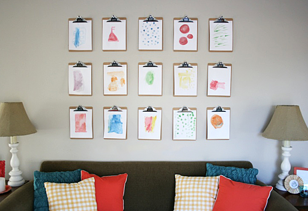 diy craft projects for wall art hanging clipboard wall art ideas - Wall Art Design Ideas
