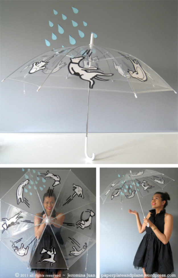 Cool DIY Sharpie Crafts Projects Ideas - Fun DIY Ideas - Make Sharpie Patterned Umbrella