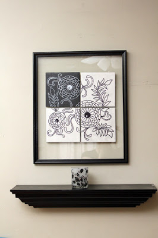 Cool DIY Sharpie Crafts Projects Ideas - Black and White Wall Art Makes Creative Home Decor