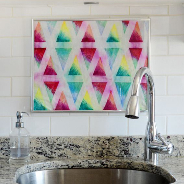 Cool DIY Sharpie Crafts Projects Ideas - Tie Die Art Wall Hanging