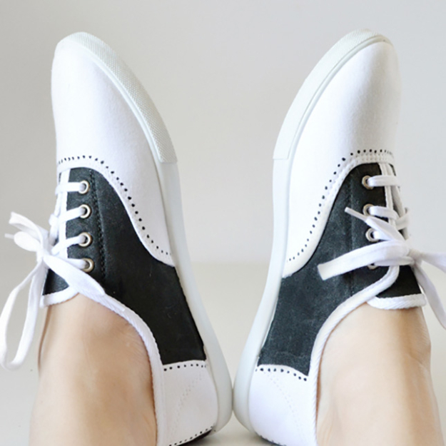 Cool DIY Sharpie Crafts Projects Ideas - Faux Saddle Shoes make awesome, creative DIY Fashion for Teens and Adults