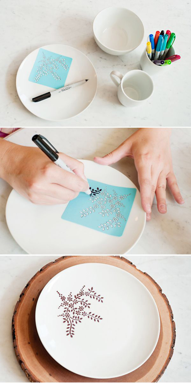 33 cool sharpie crafts and diy project ideas for Kitchen crafts to make