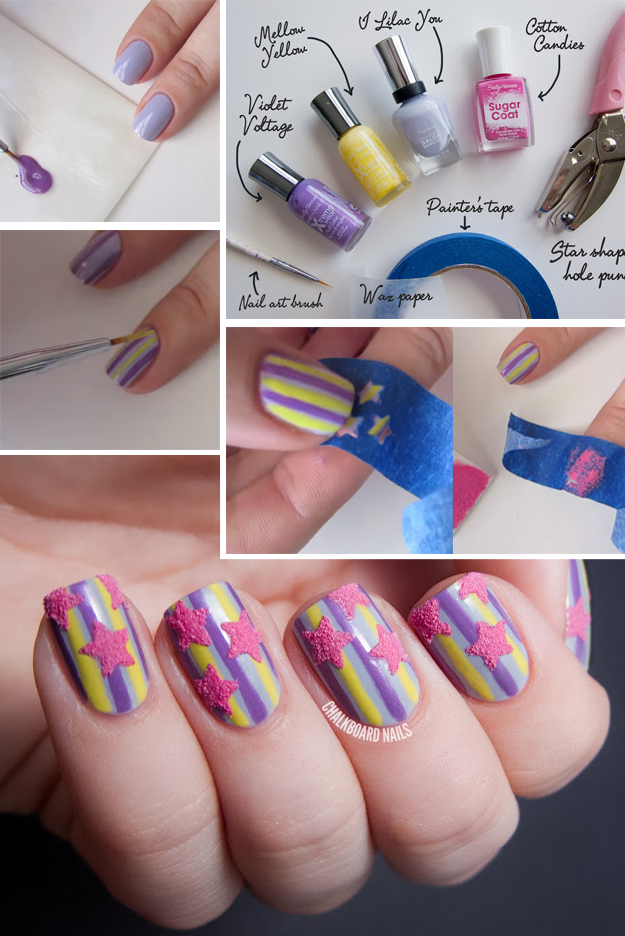33 Cool Nail Art Ideas - Fun and Easy DIY Nail Designs - Step By Step - 33 Unbelievably Cool Nail Art Ideas - DIY Projects For Teens