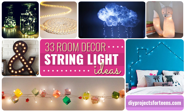 Bedroom Decor Diy Projects 33 awesome diy string light ideas - diy projects for teens