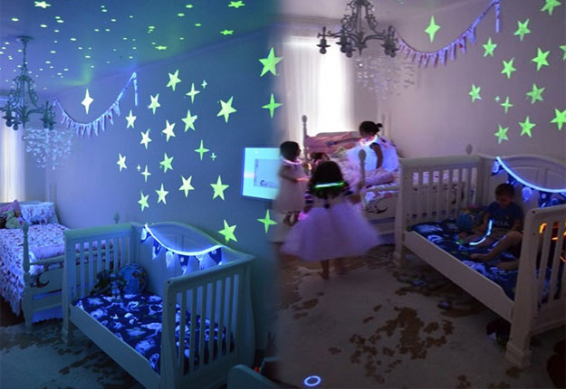 DIY Wall Art Ideas - Glow In the Dark Paint Wall Art