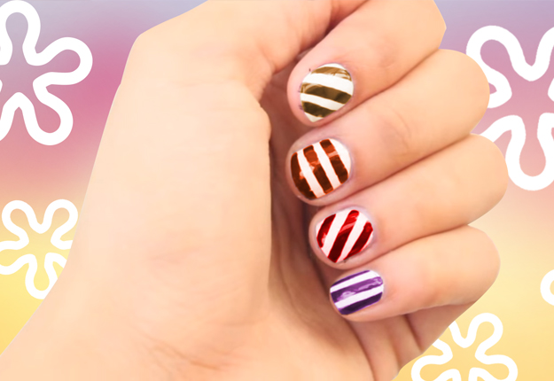 How To Paint Perfectly Striped Nails