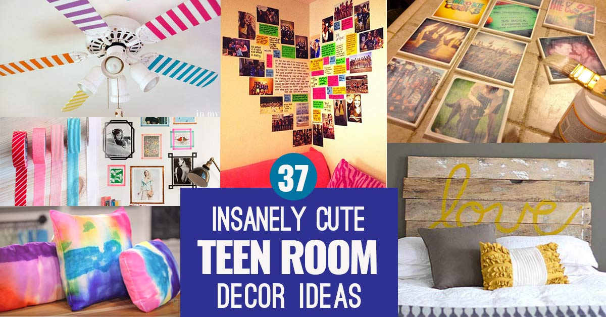 37 insanely cute teen bedroom ideas for diy decor crafts - Teen girl room decor ...