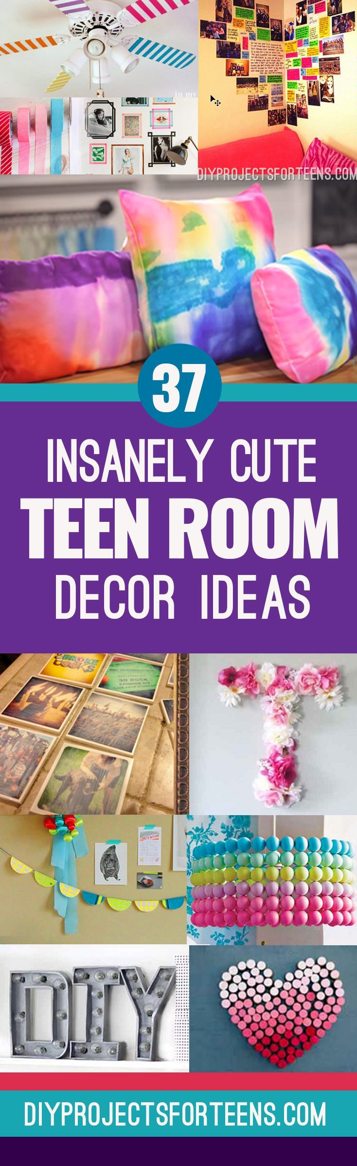 Cute DIY Room Decor Ideas for Teens - Cool and Creative DIY Room Decor Ideas from Pinterest, Youtube and Top DIY Blogs