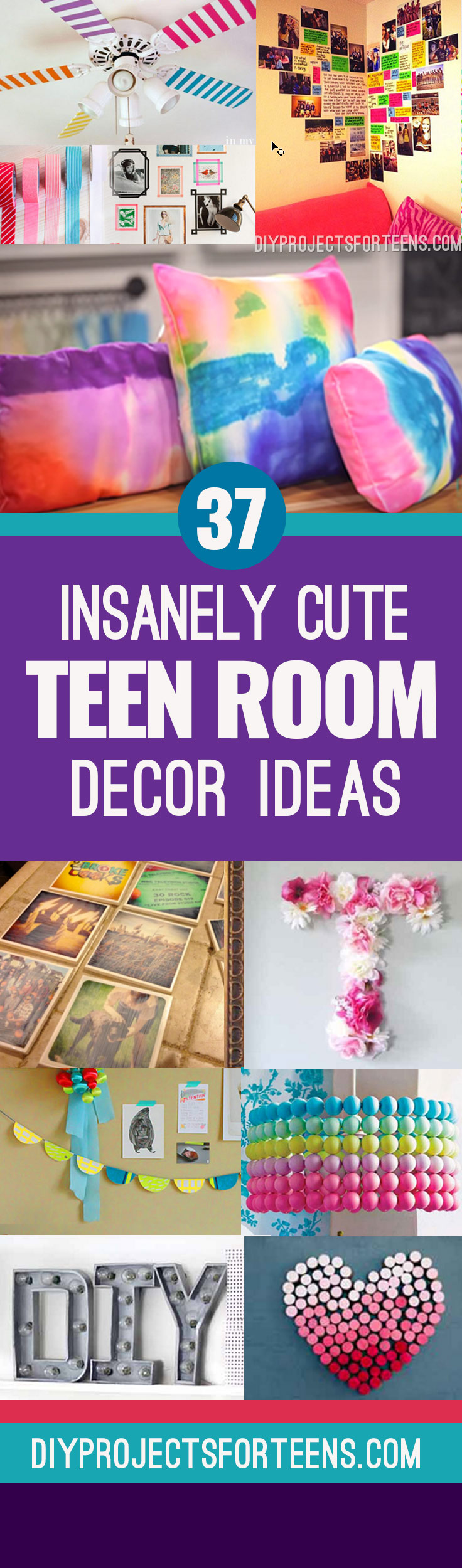 Cute DIY Room Decor Ideas for Teens   Best DIY Room Decor Ideas from  Pinterest. 37 Insanely Cute Teen Bedroom Ideas for DIY Decor   Crafts for Teens
