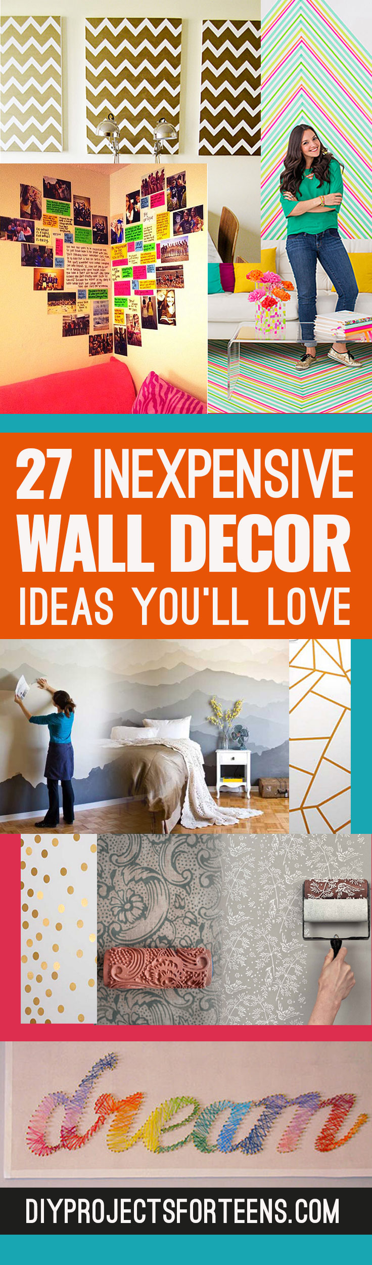 insanely cheap diy wall art ideas youll love - Cheap Diy Bedroom Decorating Ideas