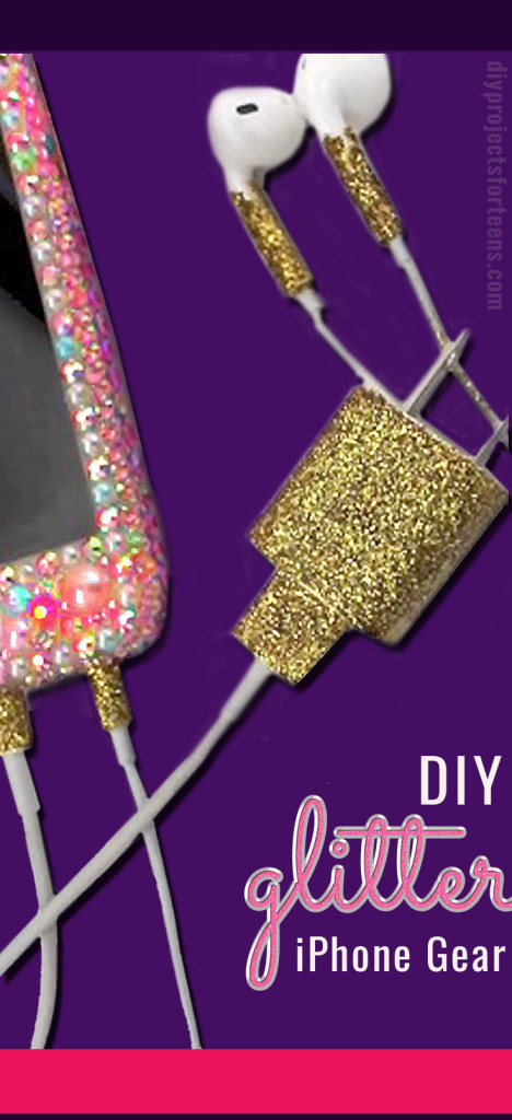 How To Glitter iphone Charger and Headphones - DIY Tutorial Video