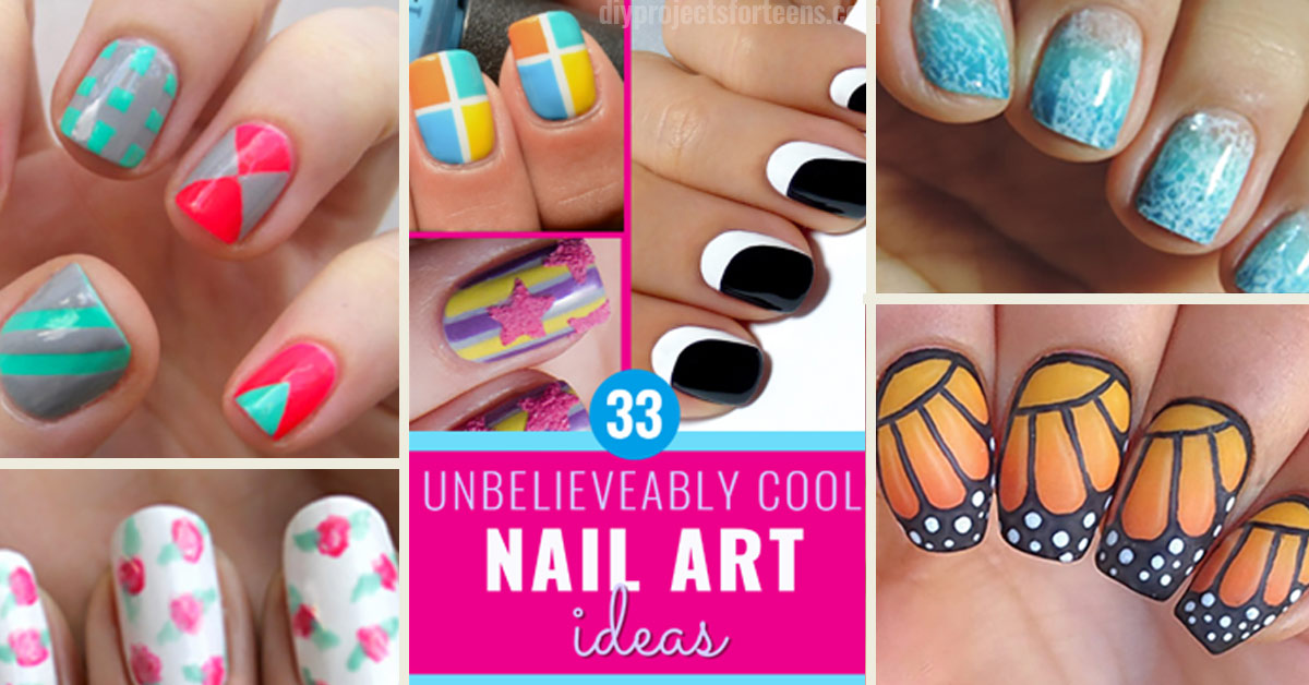 33 Cool Nail Art Ideas & Awesome DIY Nail Designs - DIY Projects for Teens - 33 Cool Nail Art Ideas & Awesome DIY Nail Designs - DIY Projects For