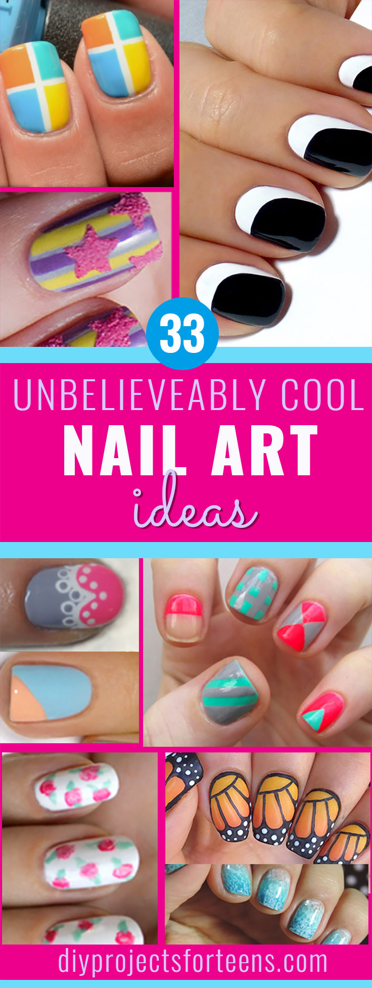 Cool Nail Art Ideas - Cool Nail Tutorials for Teens and Adults - Fun for Teens and Tweens- Nail Polish Design Ideas and Art Tutorial - Easy DIY Nail Designs - Step By Step Tutorials and Instructions for Manicures at Home