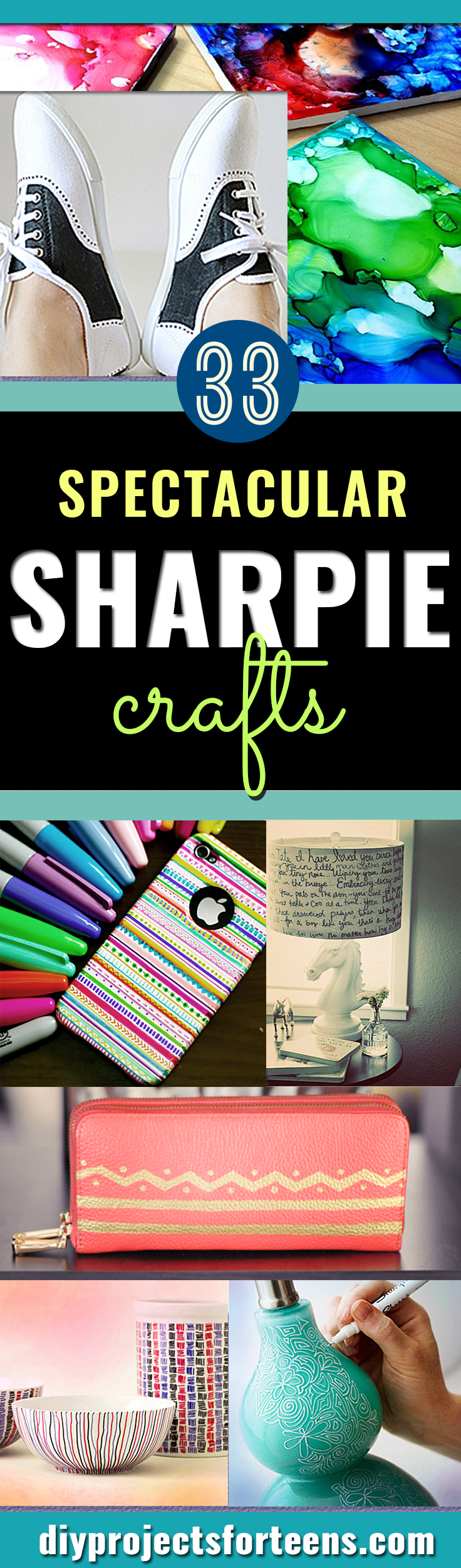 Cool Sharpie Crafts and Fun DIY Ideas with Sharpies. Awesome Decor and Fashion for Teens, Kids and Adults