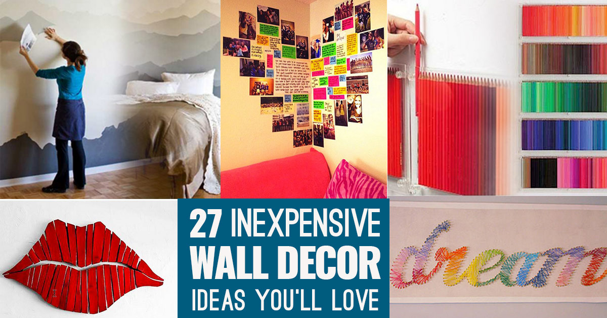 cool ideas for bedroom walls.  Cool Cheap But DIY Wall Art Ideas For Your Walls