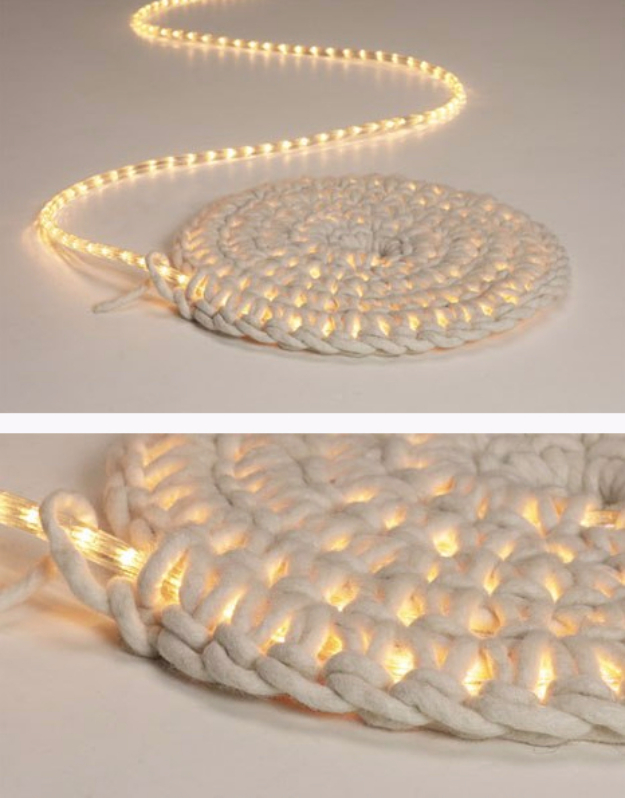 string light diy ideas for cool home decor diy led carpet light are fun for - Home Decor Craft Ideas