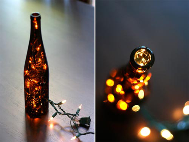 string light diy ideas for cool home decor wine bottle light are fun for teens - Home Decor Lights
