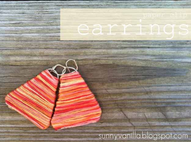 Cool Crafts You Can Make for Less than 5 Dollars | Cheap DIY Projects Ideas for Teens, Tweens, Kids and Adults | How to make paper clip earrings | http://diyprojectsforteens.com/cheap-diy-ideas-for-teens/