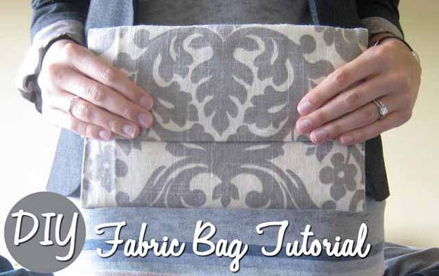 Cool Crafts for Teen Girls - Best DIY Projects for Teenage Girls - Simple Fabric Bag - http://diyprojectsforteens.com/cool-crafts-for-teen-girls/