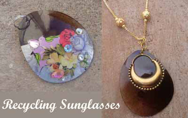Cool Crafts for Teen Girls - Best DIY Projects for Teenage Girls - Sunglasses Pendant - http://diyprojectsforteens.com/cool-crafts-for-teen-girls/