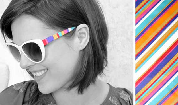 Cool Crafts for Teen Girls - Best DIY Projects for Teenage Girls - DIY Striped Shades - http://diyprojectsforteens.com/cool-crafts-for-teen-girls/