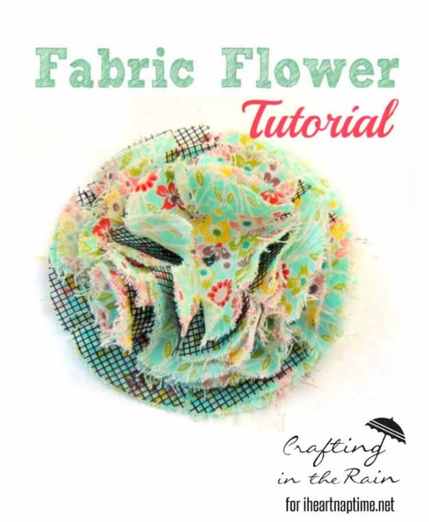 Cool Crafts You Can Make for Less than 5 Dollars | Cheap DIY Projects Ideas for Teens, Tweens, Kids and Adults | Fluffy Fabric Flower | http://diyprojectsforteens.com/cheap-diy-ideas-for-teens/