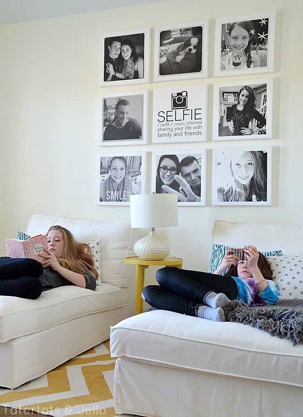Cool Crafts for Teen Girls - Best DIY Projects for Teenage Girls - Tween Teen Hangout Room Free Printable & Canvas Portrait Wall #teencrafts #diyteens #coolcrafts #crafts #diyideas