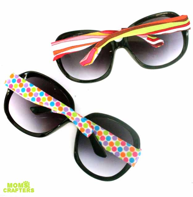 Cool Crafts You Can Make for Less than 5 Dollars | Cheap DIY Projects Ideas for Teens, Tweens, Kids and Adults | Decoate Sun Glasses with Washi Tape | http://diyprojectsforteens.com/cheap-diy-ideas-for-teens/