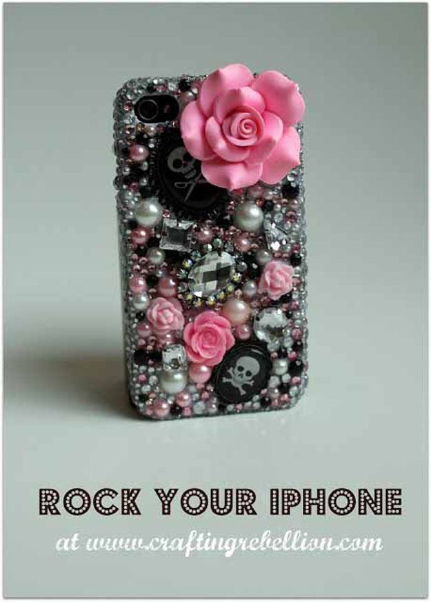 Cool Crafts for Teen Girls - Best DIY Projects for Teenage Girls - Rock Your iPhone - http://diyprojectsforteens.com/cool-crafts-for-teen-girls/