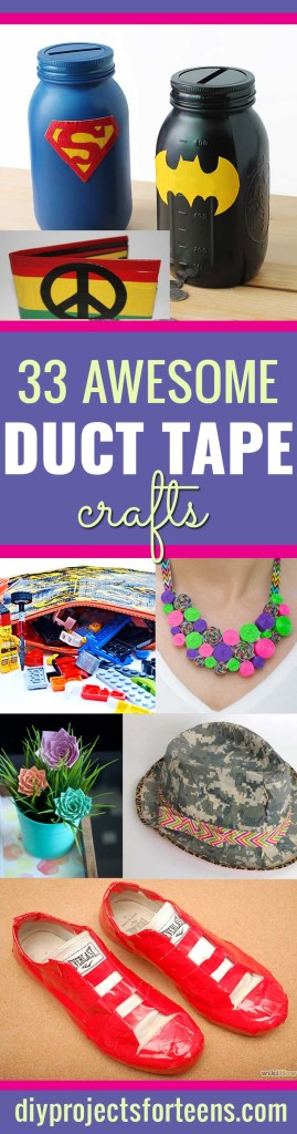 Duct Tape Crafts Ideas for DIY Home Decor, Fashion and Accessories | Cool DIY Projects for Teens, Tweens and Teenagers | http://diyprojectsforteens.com/duct-tape-projects/