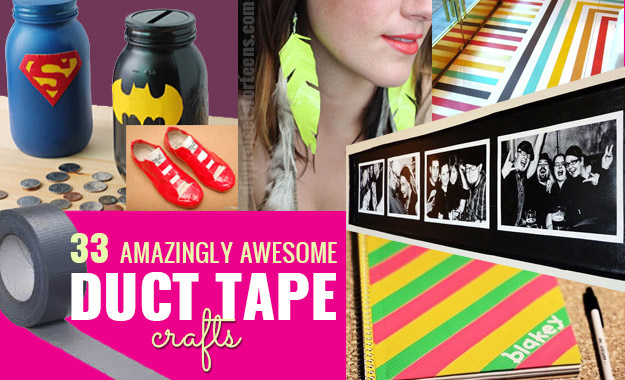Duct Tape Crafts Ideas for DIY Home Decor, Fashion and Accessories | Cool DIY Projects for Teens, Tweens and Teenagers | http://stage.diyprojectsforteens.com/duct-tape-projects/
