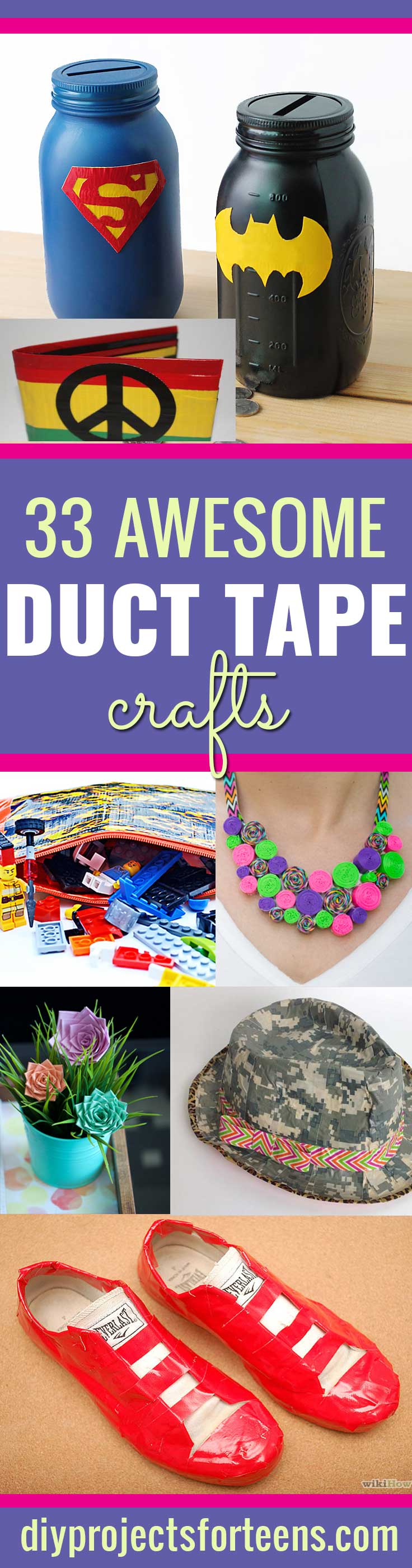 Duct Tape Crafts Ideas for DIY Home Decor, Fashion and Accessories | Cool DIY Projects for Teens, Tweens and Teenagers #teencrafts #kidscrafts #ducttape #cheapcrafts /