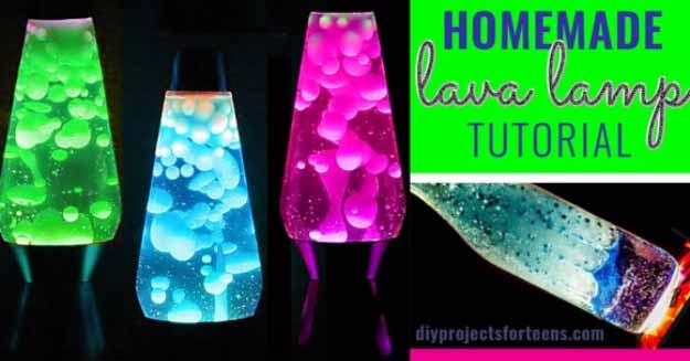Cool Crafts You Can Make for Less than 5 Dollars | Cheap DIY Projects Ideas for Teens, Tweens, Kids and Adults | DIY Lava Lamp | http://diyprojectsforteens.com/cheap-diy-ideas-for-teens/