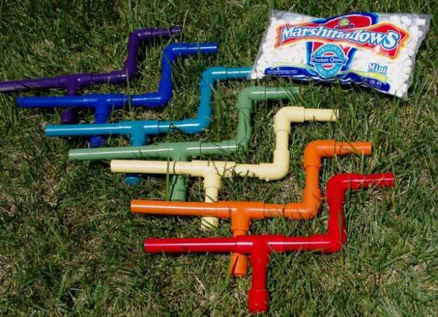 Cool Crafts You Can Make for Less than 5 Dollars | Cheap DIY Projects Ideas for Teens, Tweens, Kids and Adults | Marshmallow Shooters | http://diyprojectsforteens.com/cheap-diy-ideas-for-teens/