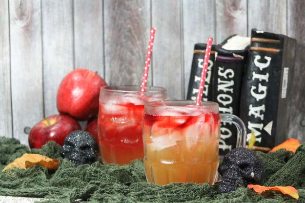 Apple Cider Mocktail Halloween Drink Recipe