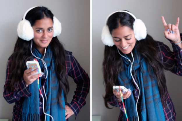 Cool DIY Ideas for Your iPhone iPad Tablets & Phones | Fun Projects for Chargers, Cases and Headphones | Audio Trick Ear Muffs | http://diyprojectsforteens.com/diy-projects-iphone-ipad-phone/