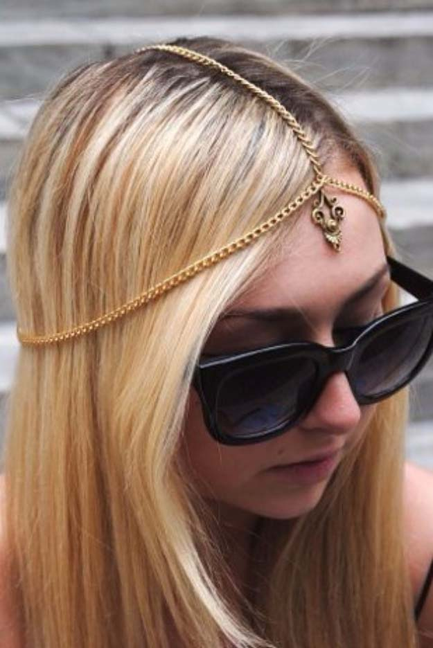 Cool DIY Fashion Ideas | Fun Do It Yourself Fashion projects | Learn how to refashion and sew jeans, T-shirts, skirts, and more | Coachella Inspired Headpiece | http://diyprojectsforteens.com/cool-diy-fashion-ideas/