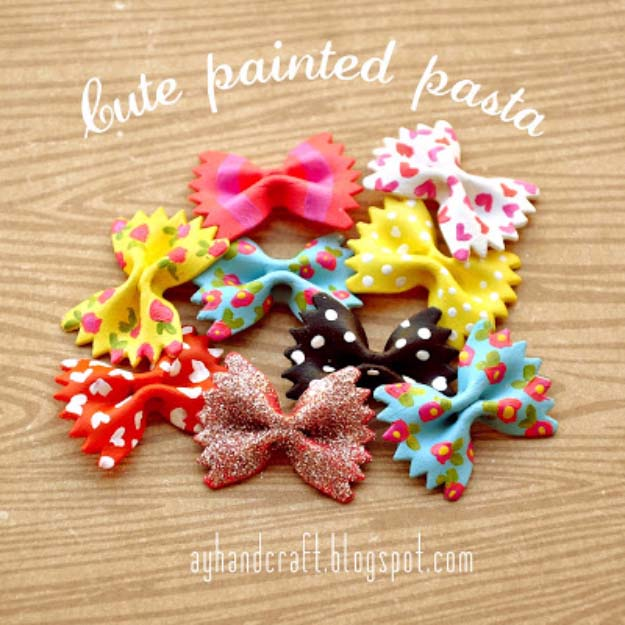 Cool Crafts for Teen Girls - Best DIY Projects for Teenage Girls - Cute Painted Pasta - http://diyprojectsforteens.com/cool-crafts-for-teen-girls/