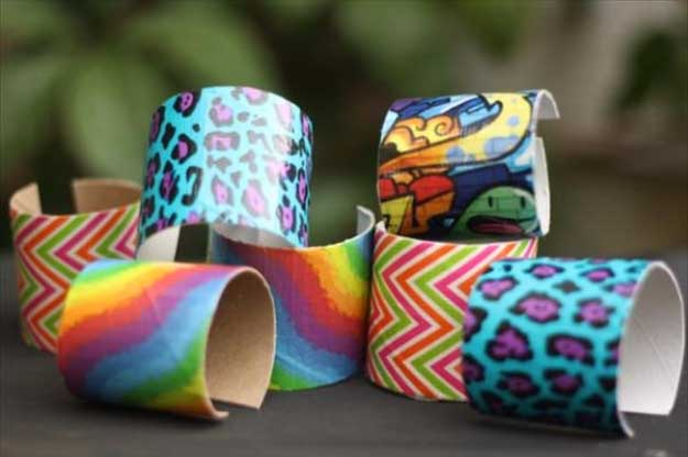 Duct Tape Crafts Ideas for DIY Home Decor, Fashion and Accessories | DIY Bracelets Fun with Duct tape | DIY Projects for Teens #teencrafts #kidscrafts #ducttape #cheapcrafts /