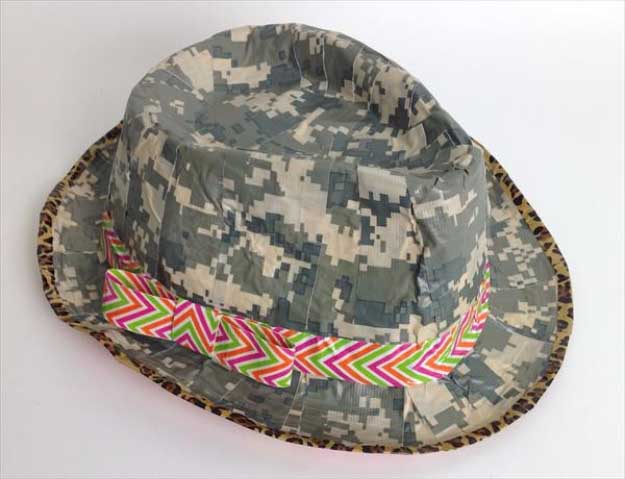 Duct Tape Crafts Ideas for DIY Home Decor, Fashion and Accessories | DIY Duct Tape Crazy Hat Tutorial | DIY Projects for Teens #teencrafts #kidscrafts #ducttape #cheapcrafts /